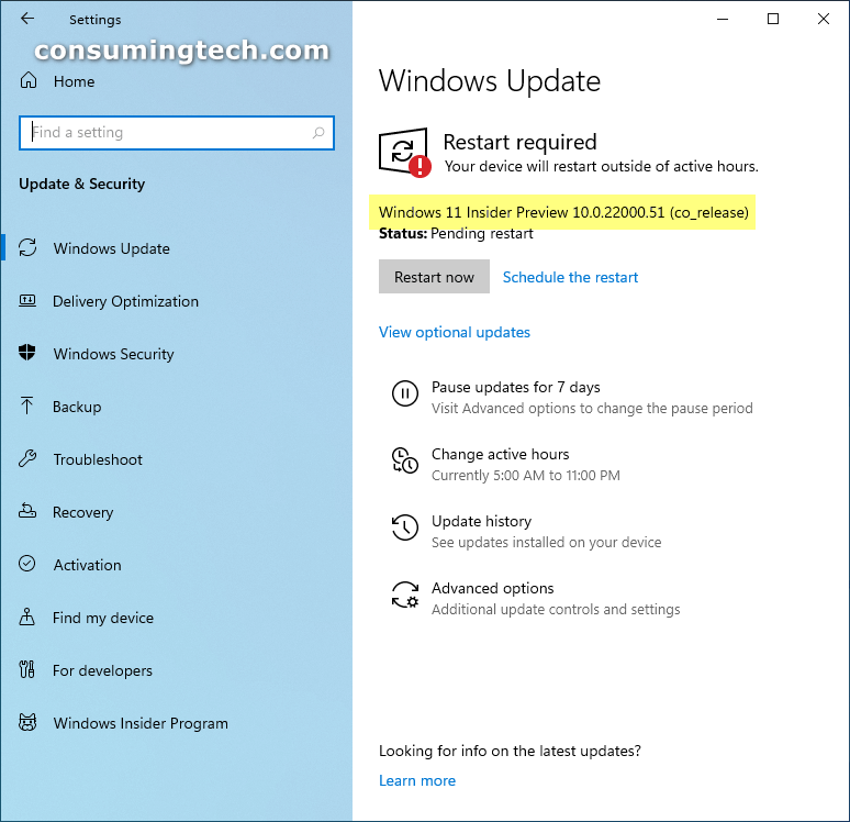 Windows 11 Insider Preview 10.0.22000.51 Release