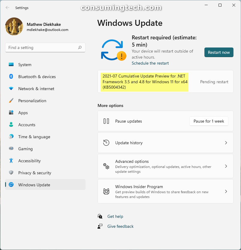 Windows 11 KB5004342