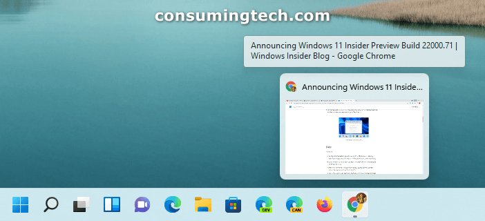 Windows 11 KB5004252 taskbar previews