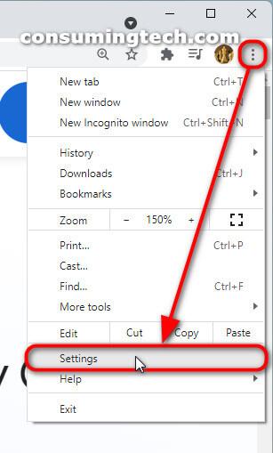 Google Chrome 94: Settings